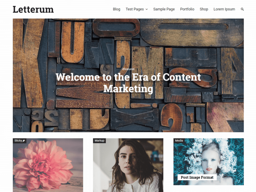 Free Letterum WordPress theme