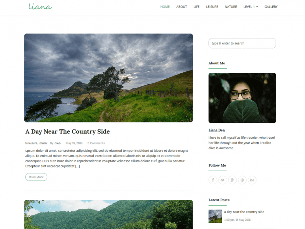 Free Liana WordPress theme