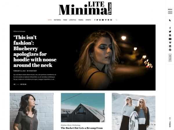 Free Minimal Lite WordPress theme