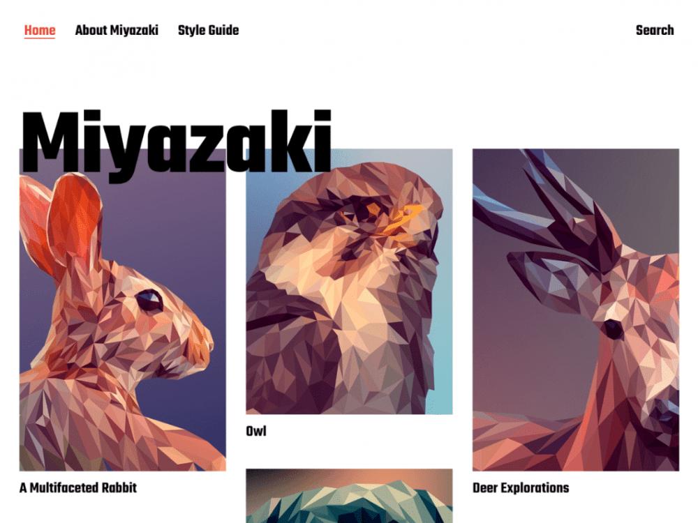 Free Miyazaki WordPress theme