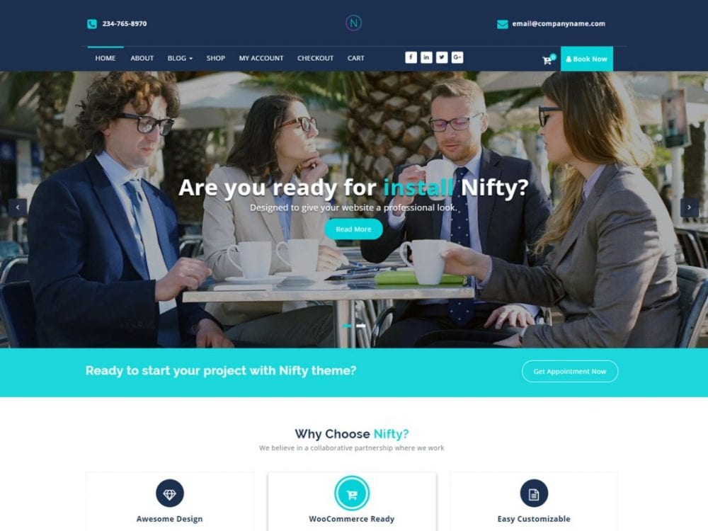 Free Nifty Lite WordPress theme