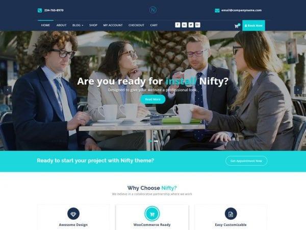 Free Nifty Lite WordPress theme