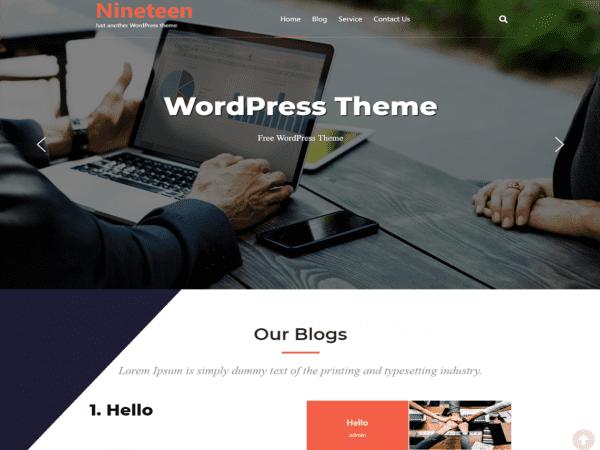 Free Nineteen WordPress theme