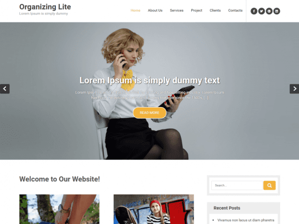 Free Organizing Lite WordPress theme