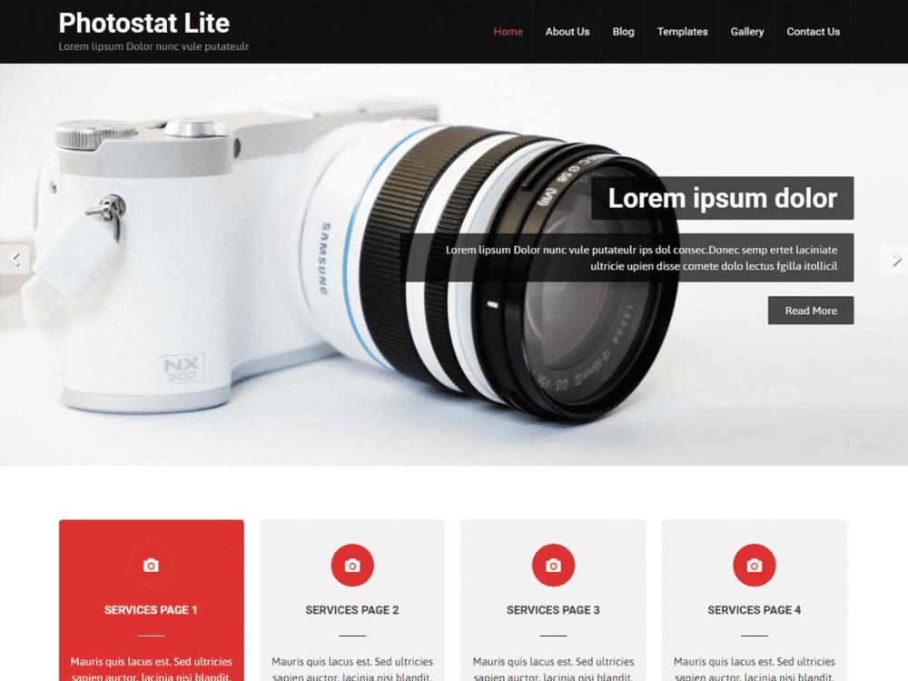 Free Photostat Lite WordPress theme