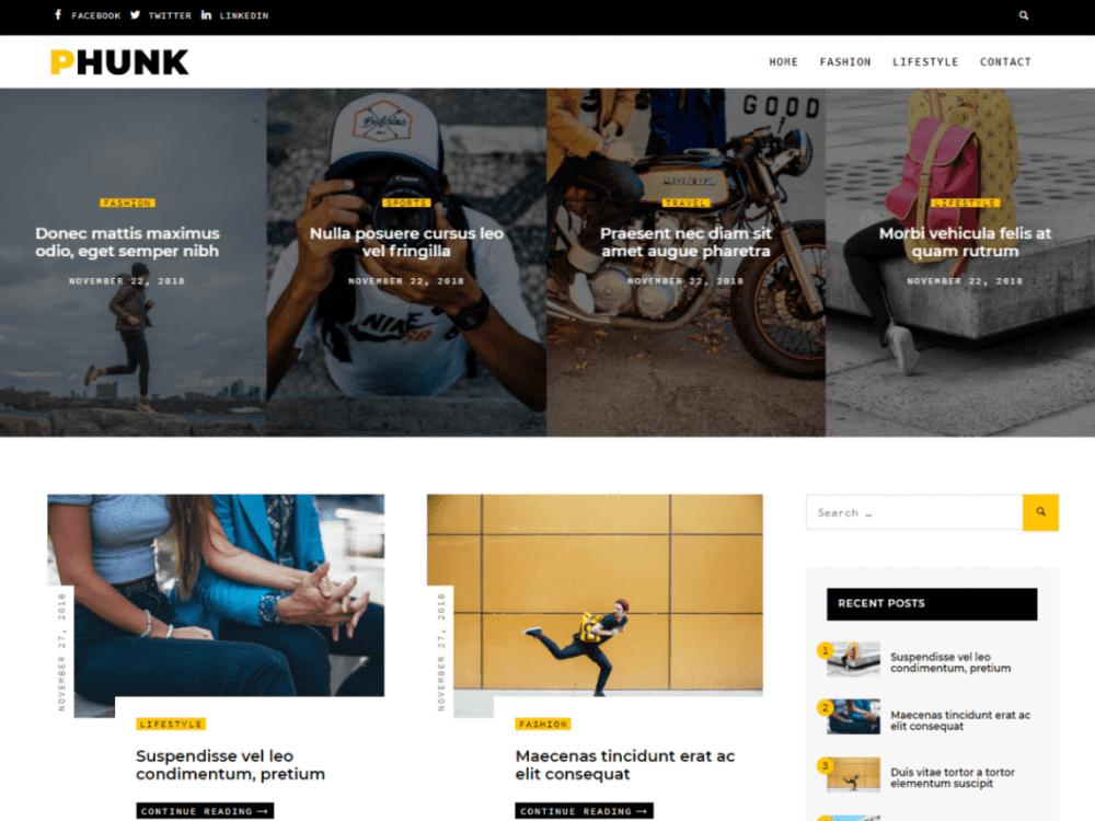 Free Phunk WordPress theme