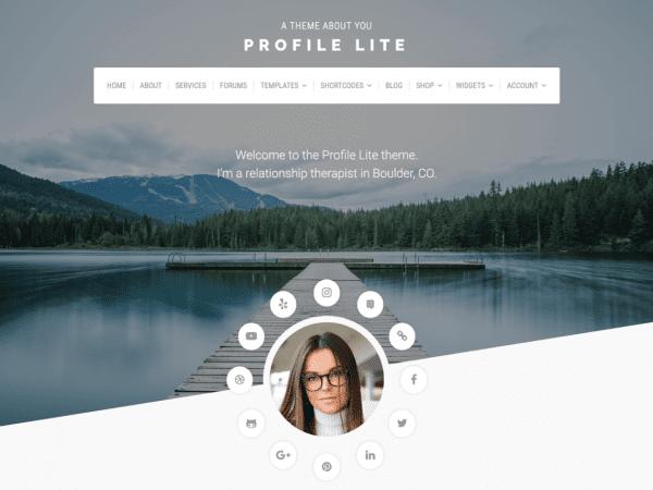 Free Profile Lite WordPress theme