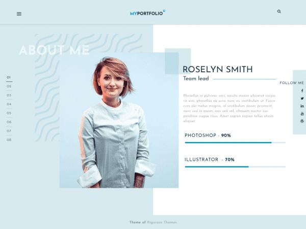 Free RT Portfolio Wordpress theme