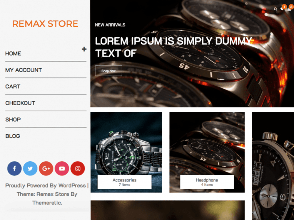 Free Remax Store WordPress theme
