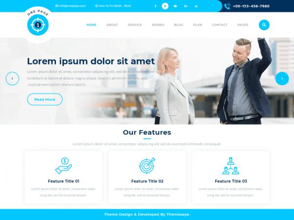 Free Safha One Page WordPress theme