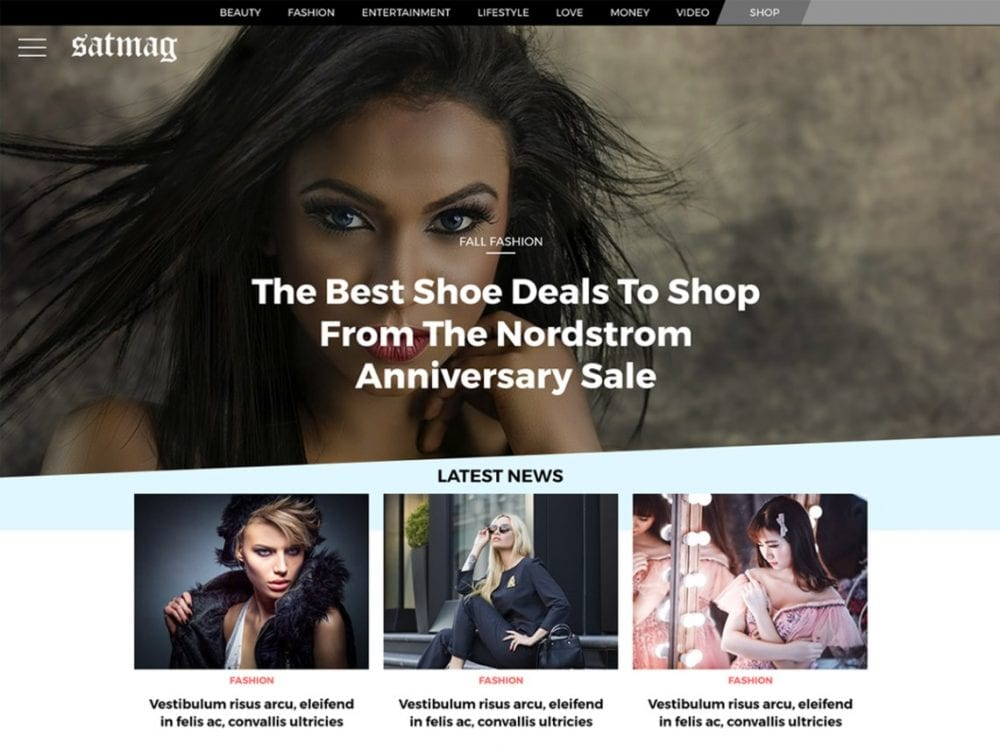 Free Satmag WordPress theme