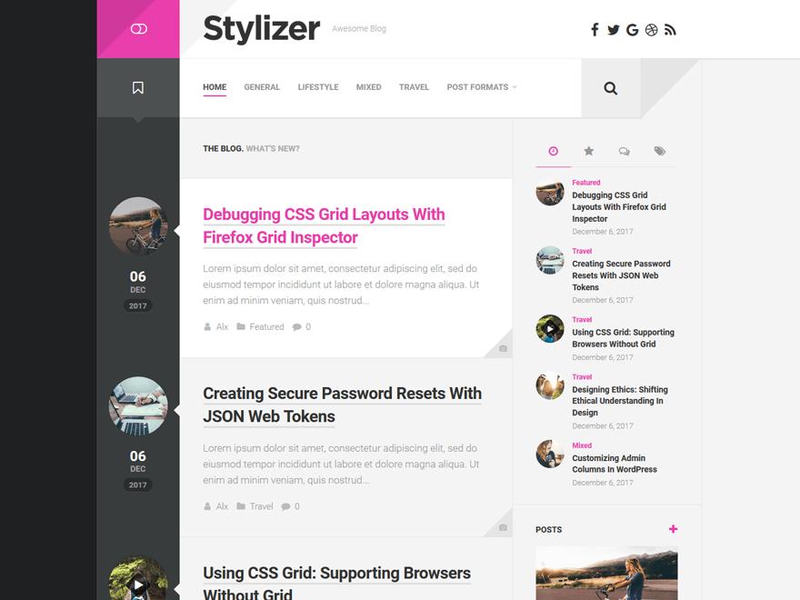 Free Stylizer WordPress theme