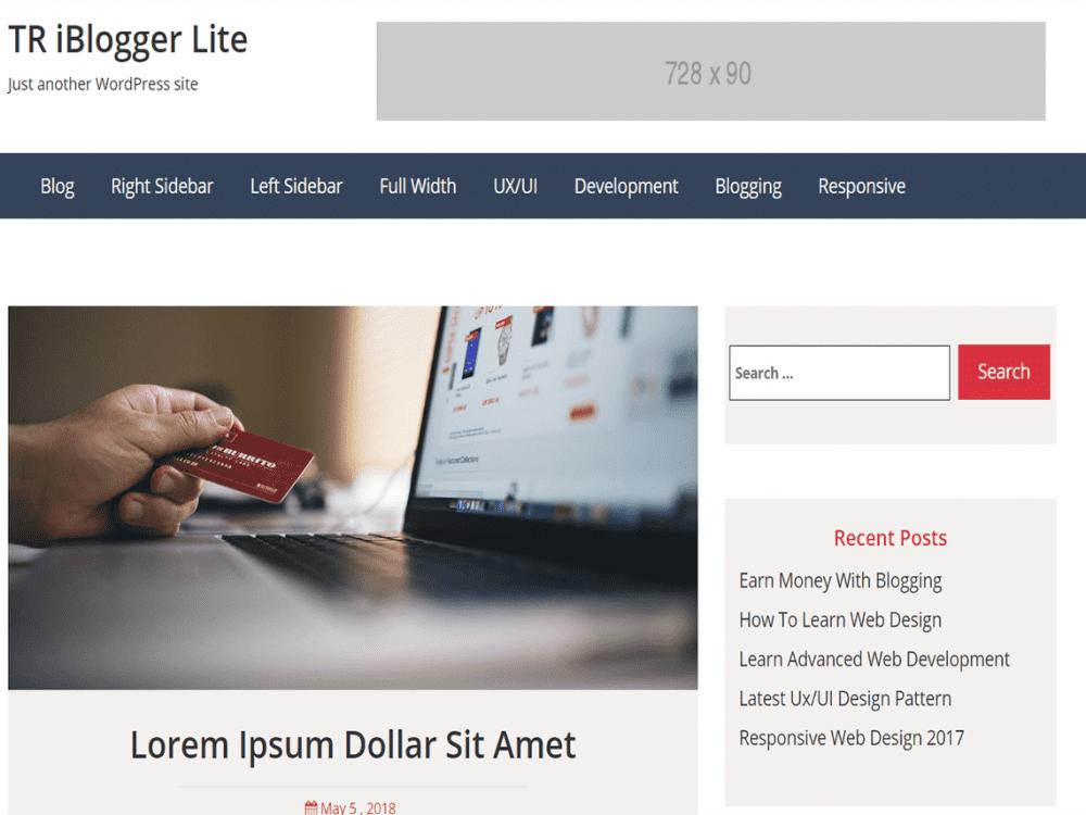Free TR iBlogger Lite WordPress theme
