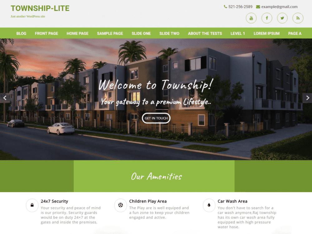 Free Township Lite WordPress theme