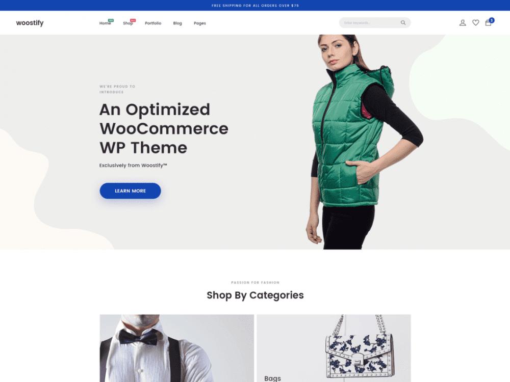 Free Woostify WordPress theme