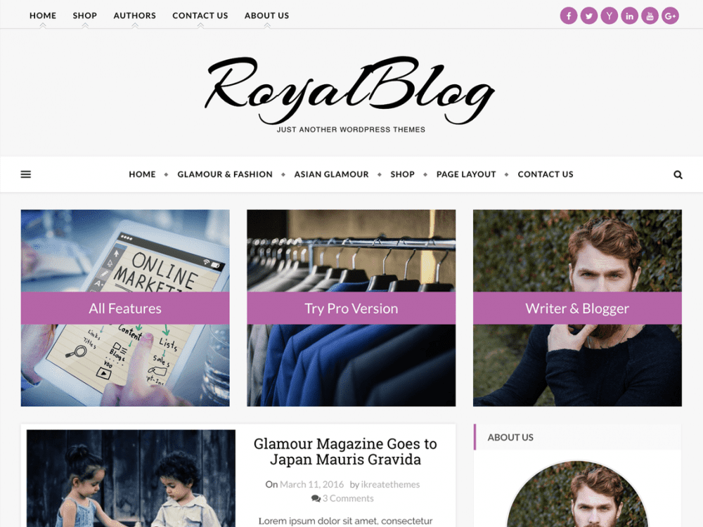 Free royal blof wordpress theme