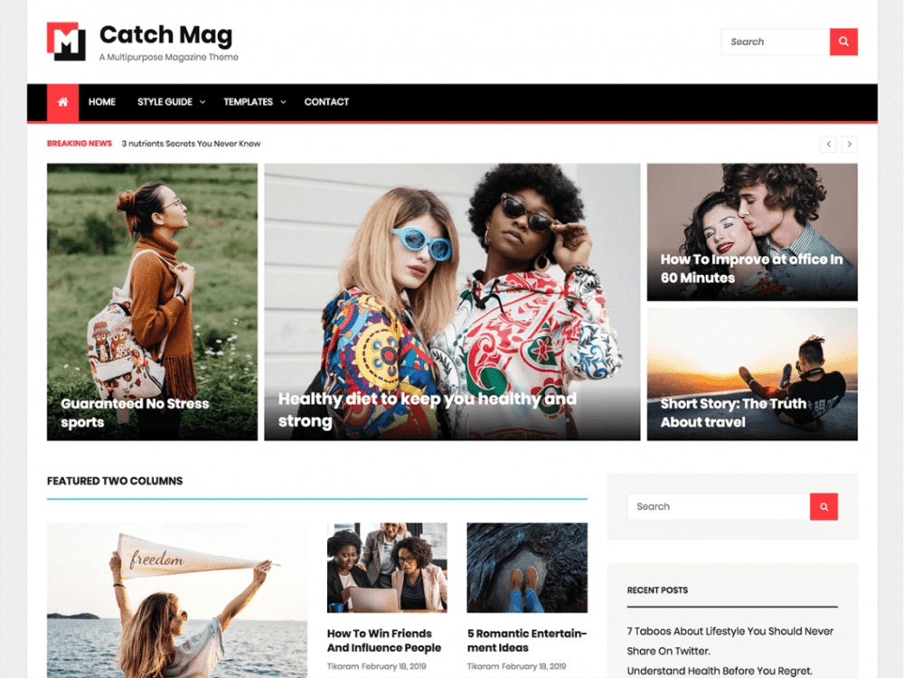 Free Catch Mag WordPress theme