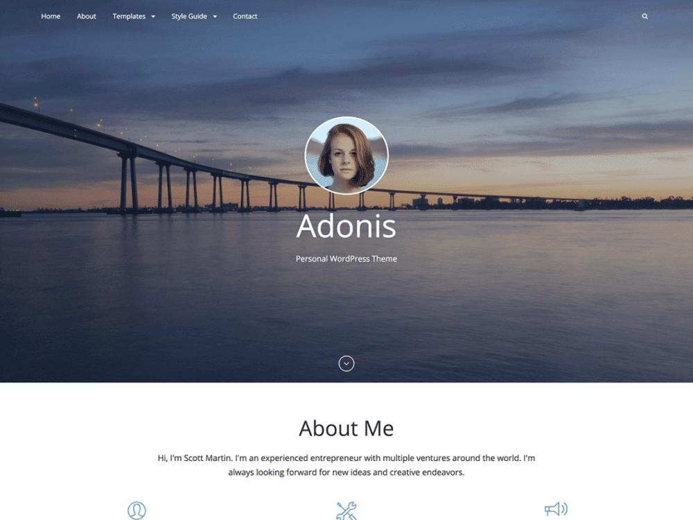Free Adonis WordPress theme