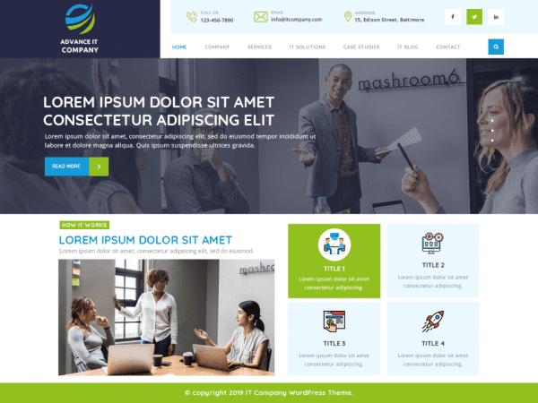 Free Advance IT Company WordPress theme