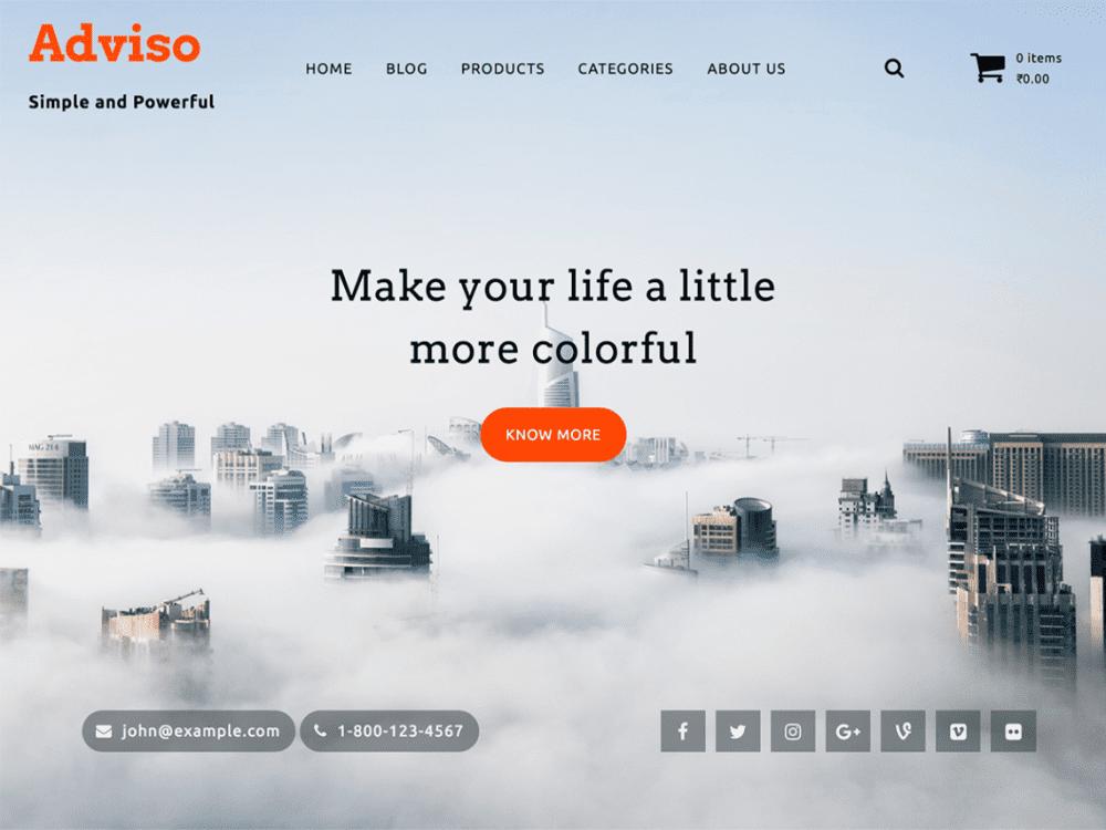 Free Adviso WordPress theme