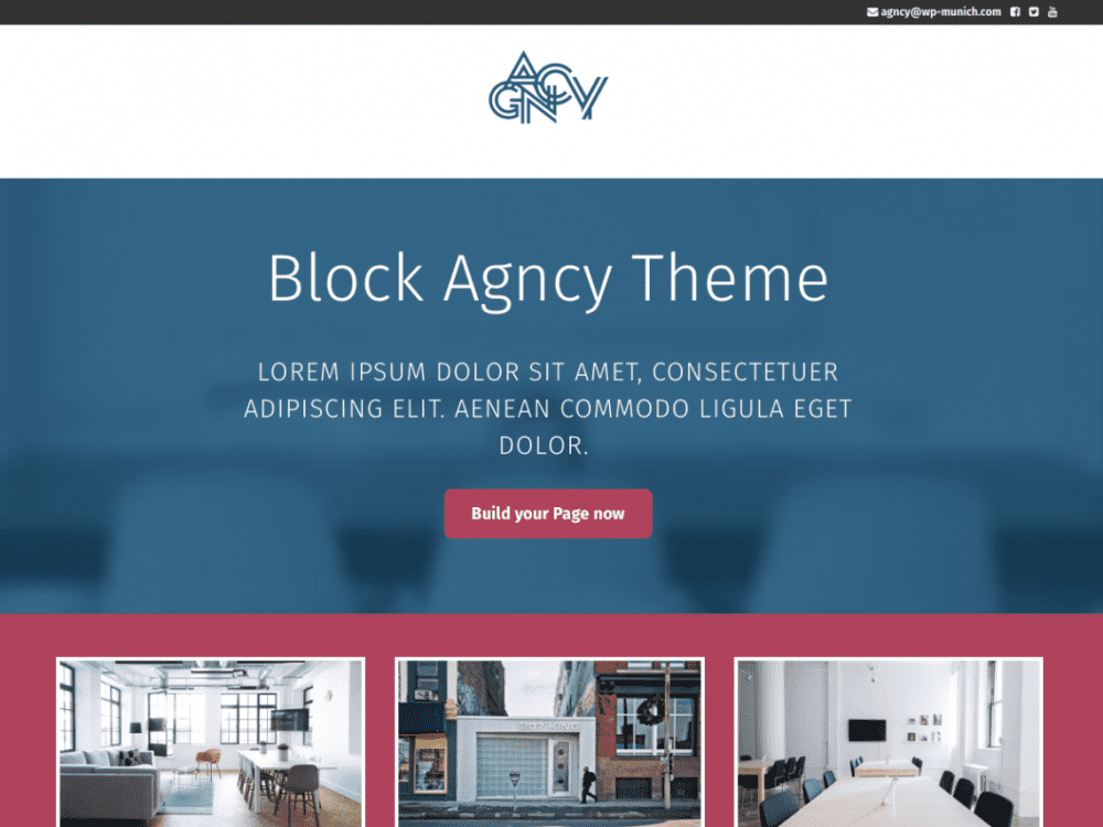 Free Agncy WordPress theme