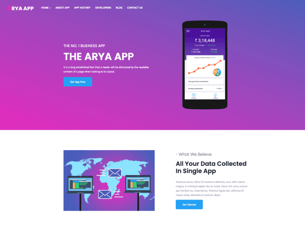 Free Arya Multipurpose WordPress theme