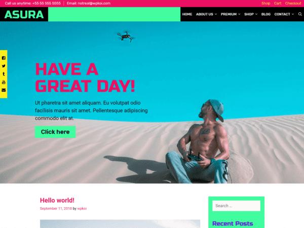 Free Asura WordPress theme