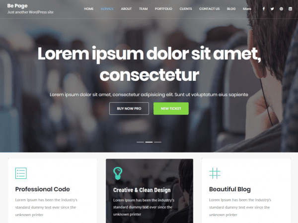 Free Be Page WordPress theme