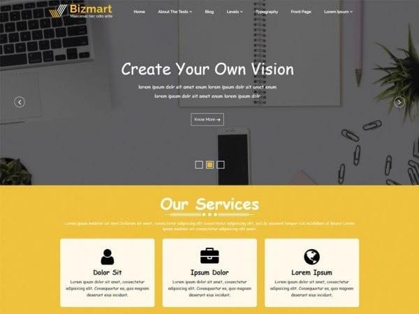 Free Bizmart WordPress theme