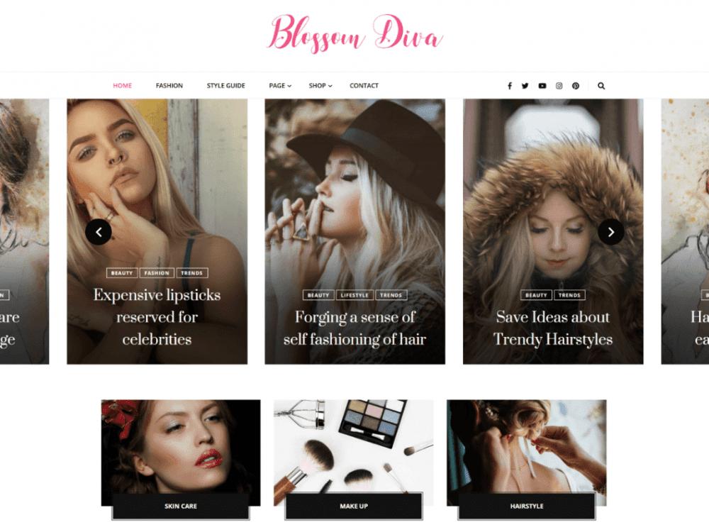 Free Blossom Diva WordPress theme