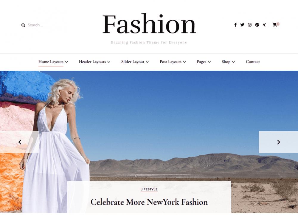 Free Blossom Fashion WordPress theme