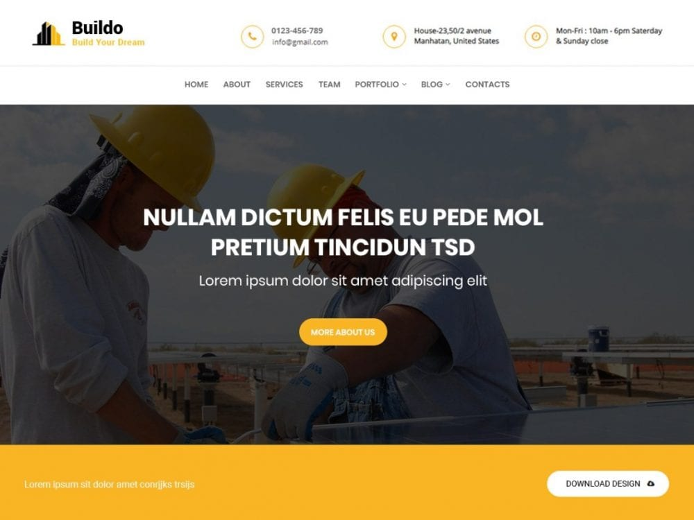 Free Buildo WordPress theme