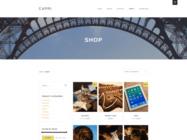Free Capri Lite WordPress theme