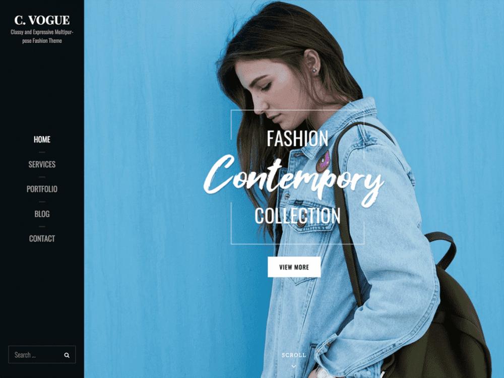 Free Catch Vogue WordPress theme