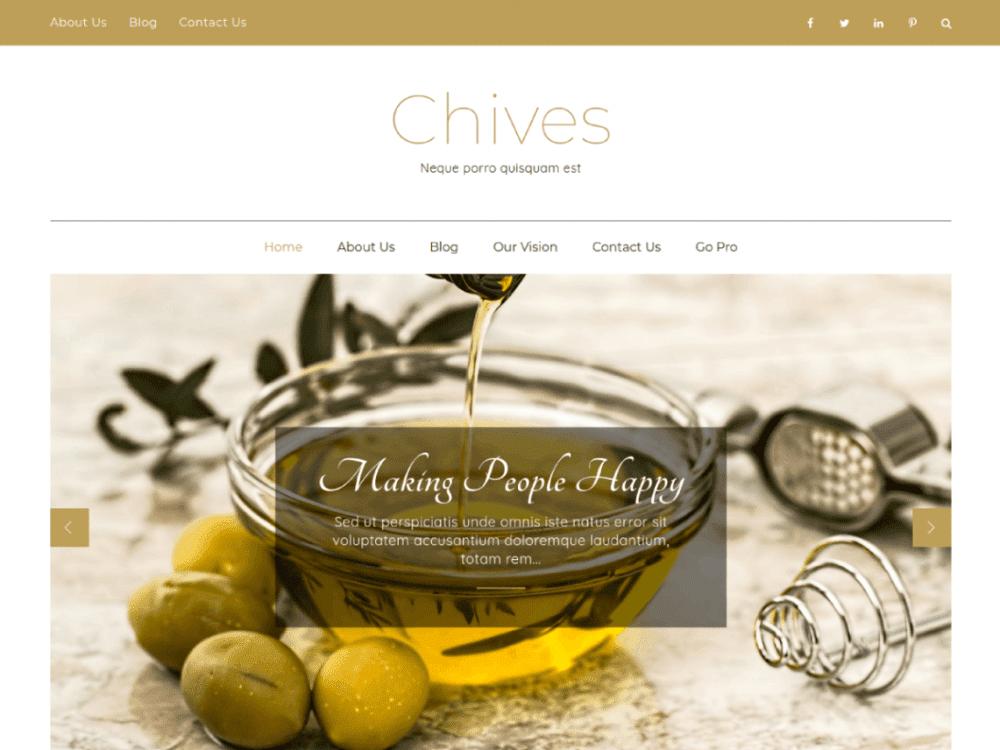 Free Chives WordPress theme