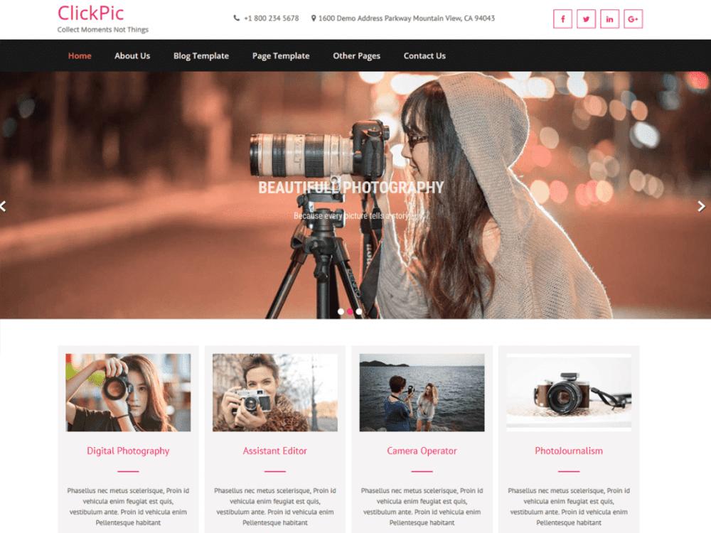 Free ClickPic WordPress theme