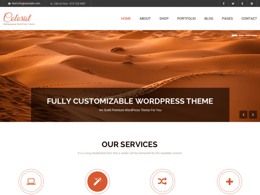 Free Colorist WordPress theme