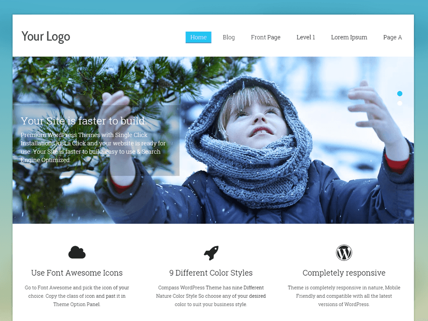 Free Compass WordPress theme