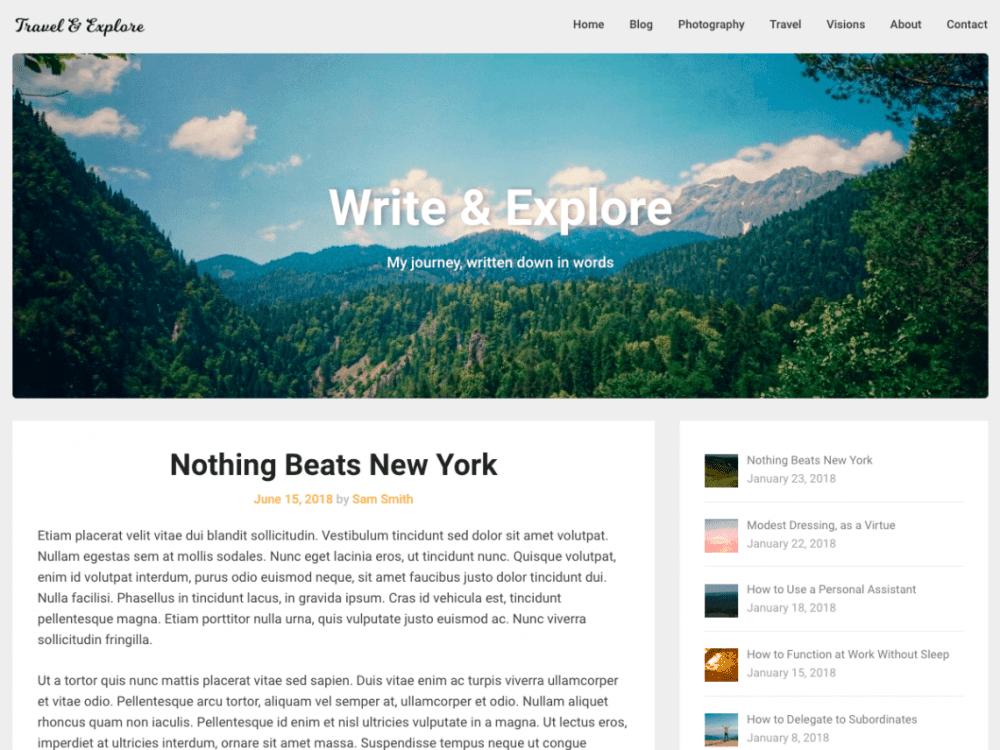 Free Corporately Blogging WordPress theme
