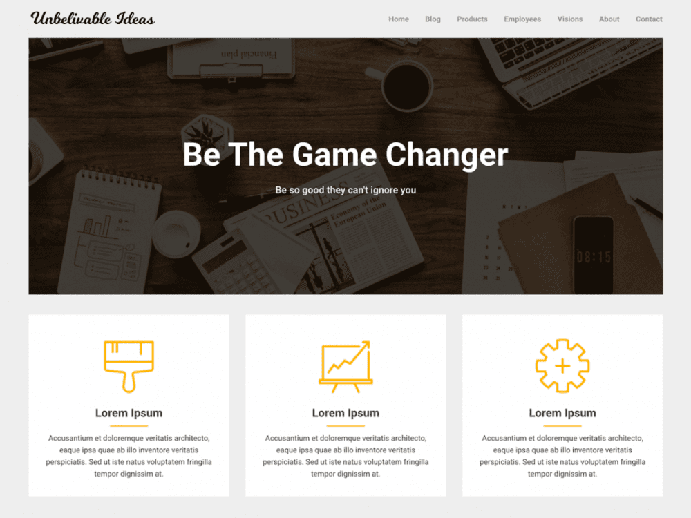 Free Corporately WordPress theme