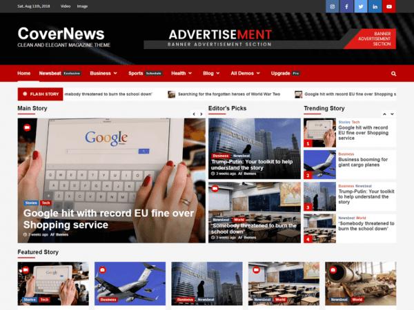 Free CoverNews WordPress theme