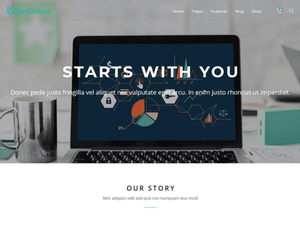 Free Daydream WordPress theme