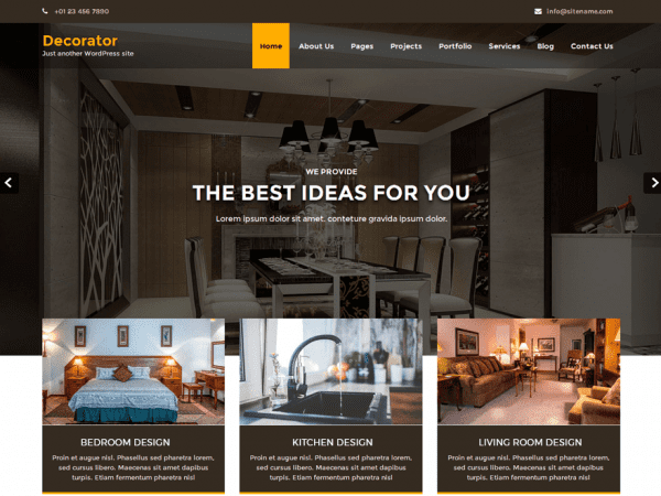 Free Decorator WordPress theme