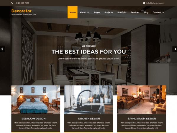 Free Decorator WordPress theme