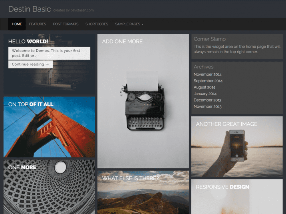 Free Destin Basic WordPress theme