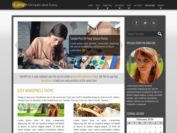 Free Easy WordPress theme