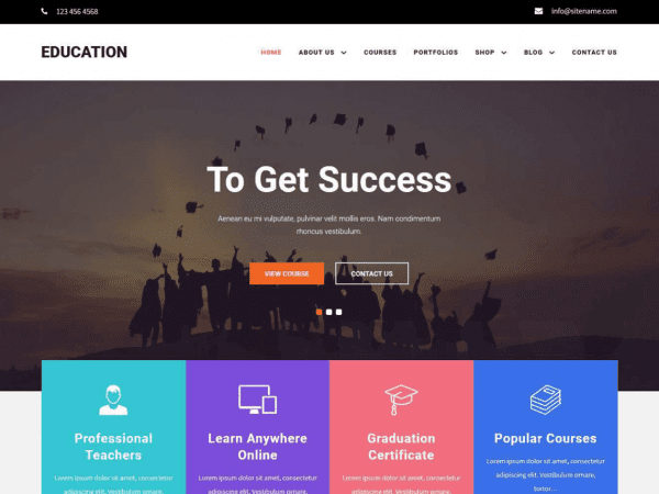 Free Educamp WordPress theme