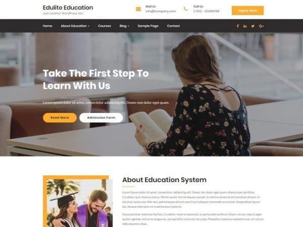 Free Edulite WordPress theme