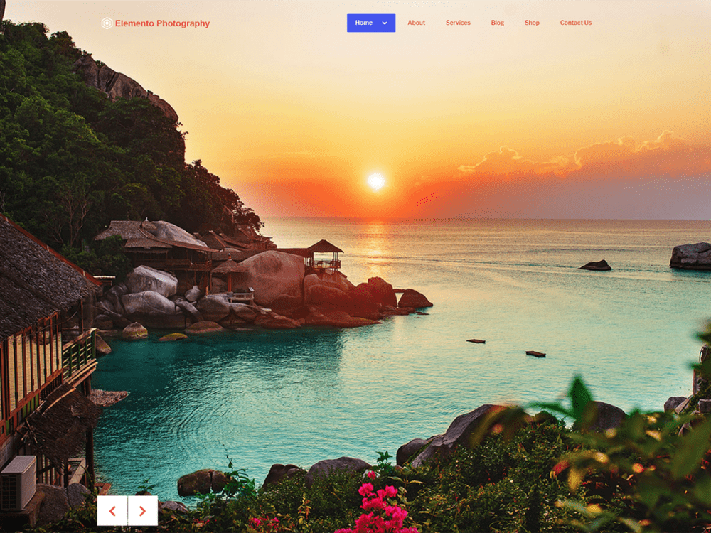 Free Elemento Photography WordPress theme