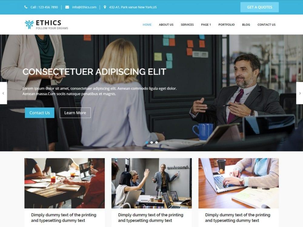 Free Ethics WordPress theme